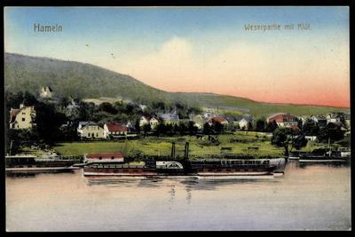 Hameln A.D. Weser, Dampfer Kronprinz Wilhelm, Ort