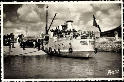 Ile D'Oderon, Arrivée Au Port,Andre Bouineau,Dampfer