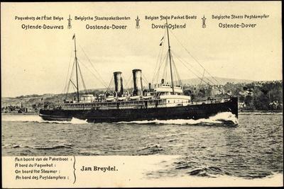 Ganzsachen Ostende, Fährschiff Jan Breydel, 10C