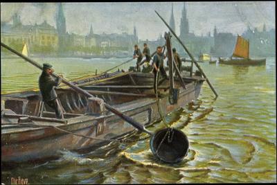 Künstler Rave, C., Seeleute Bei Arbeiten Im Hafen