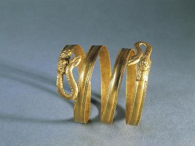 Spiral Gold Bracelet, Italy, Goldsmith Art, Magna Graecia