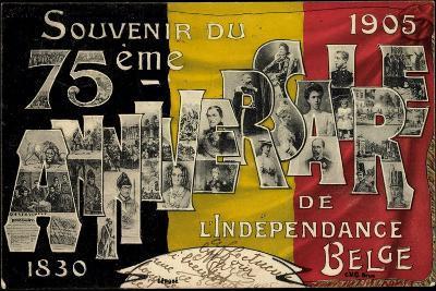 75EME Anniversaire De L'Indépendance, Belgien 1905