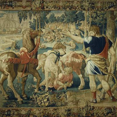 Diomedes Devoured by His Horses, 16th Century Tapestry from the Series Stories of Hercules