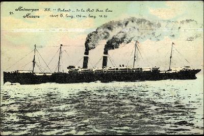 Antwerpen, S.S. Finland Der Red Star Line, Dampfer
