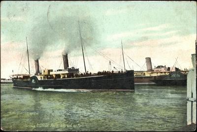 Ostende Westflandern, Malle Entrant Au Port, Hafen