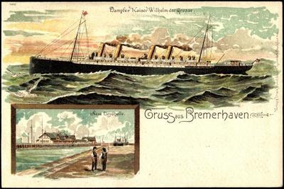 Litho Nordd. Lloyd, Bremerhaven,Dampfer Wilhelm D Große