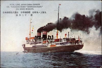 Künstler Dampfer Nagasi Maru Der Nyk Line Auf See