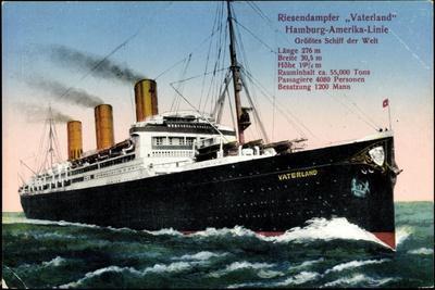 Hapag, Dampfschiff Vaterland, Riesendampfer
