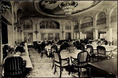 Foto Hapag, Dampfer New York, Speisesaal, 1 Klasse