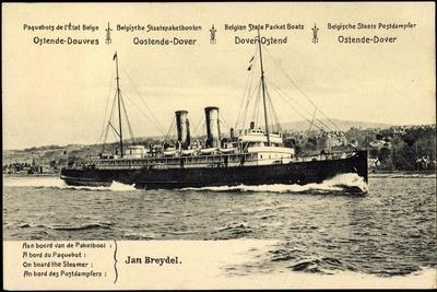 Ganzsachen Ostende, Paquebot Jan Breydel, 10C