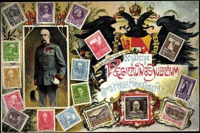 Briefmarken 60 Jahre Regierung, Kaiser Franz Joseph