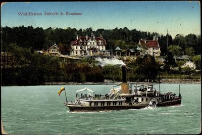 Konstanz Bodensee, Dampfer, Waldhaus Job