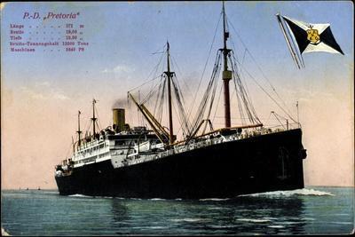 P.D. Pretoria, Hapag, Dampfschiff, Fahne