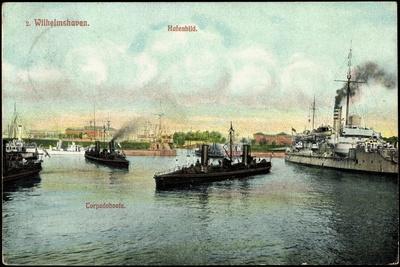 Wilhelmshaven Nordsee,Dampfer Im Hafen, Torpedoboote