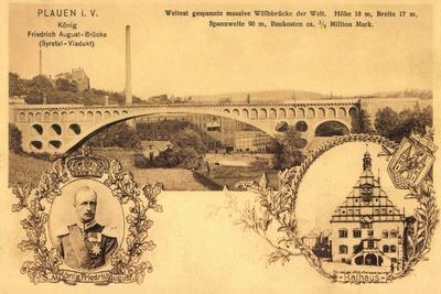 Plauen Vogtland, Friedrich August Brücke, Rathaus