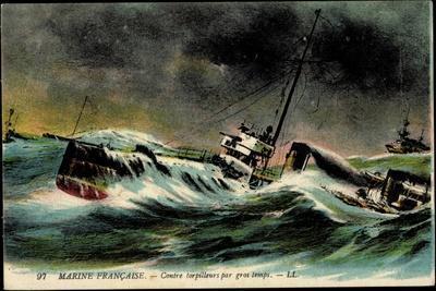 Französische Marine Kämpft Gegen U Boot