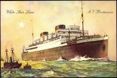 White Star Line, M.V Britannic, British Vessel, Steamer