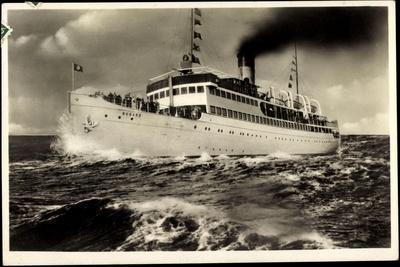 Reederei Braeunlich Stettin, Ostsee Dampfer Rugard