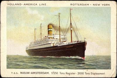 Hapag, T.S.S. Nieuw Amsterdam, Dampfschiff