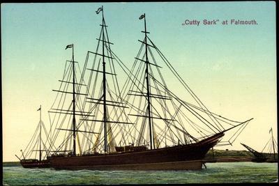 Segelschiff Cutty Sark Im Hafen Von Falmouth