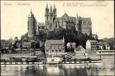 Meißen Elbe, Dampfer Kronprinz, Albrechtsburg