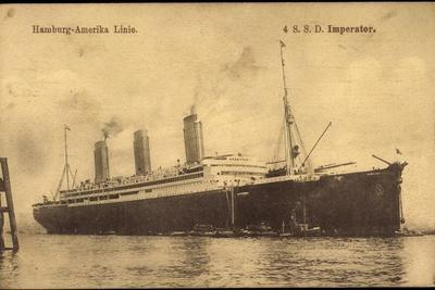 Dampfer S.S.D. Imperator, Hapag, Transatlantik