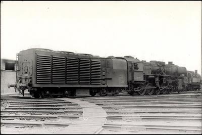 Foto Deutsche Kondenslok Nr. 52 1953, Tender