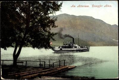 Österreich, Attersee, Dampfer Alma, Uferblick