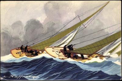 Künstler Haffner, L., Segelboote, Yachts, Wettrennen
