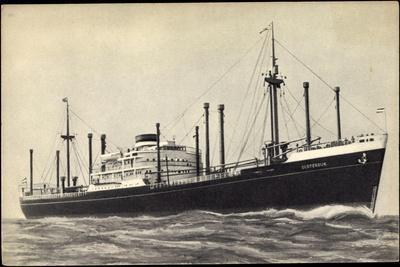 Hapag, M.V. Sloterdijk, Dampfschiff in Fahrt