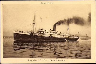 Dampfer Gg La Ferriere Der Sgtm Auf Hoher See