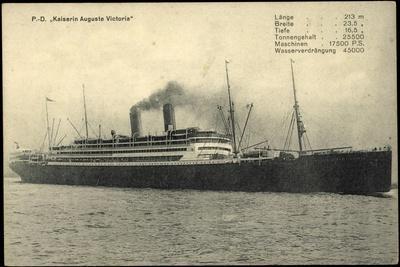 Dampfschiff Kaiser Auguste Victoria Der Hapag
