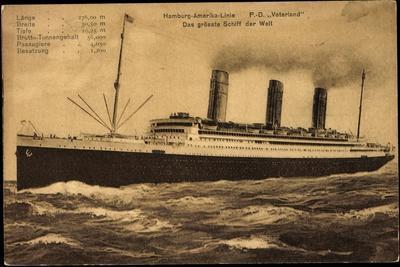Hapag, Dampfschiff Vaterland, Größtes Schiff Der Welt