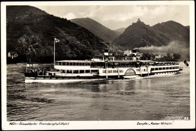 Binnenschiffe Rhein, Dampfer Kaiser Wilhelm