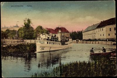 Angersburg Ostpreußen, Partie Am Hafen, Salondampfer Loewentin