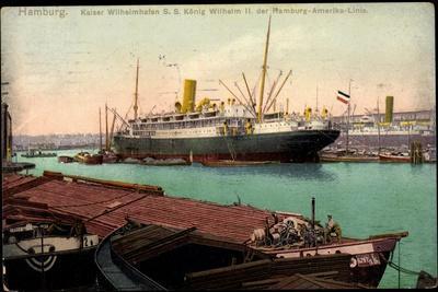 Hamburg, Hafen, Dampfschiff König Wilhelm II