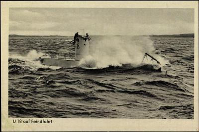 Wehrmacht, Kriegsmarine, U Boot, U 18, Feindfahrt