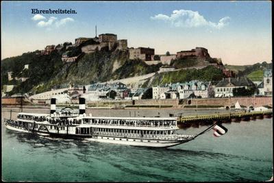 Ehrenbreitstein Koblenz, Dampfschiff Borussia, Mosel