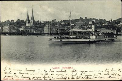 Vierwaldstättersee, Luzern, Hofkirche, Dampfer Italia