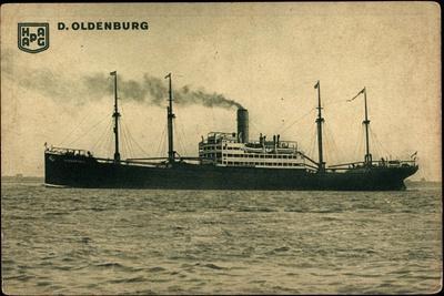 Hapag, D. Oldenburg, Dampfschiff, Rauch Aus D Schlot