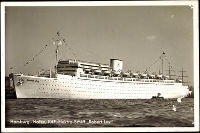 Hamburg Hafen, Kdf Elektro Schiff Robert Ley, Kdf
