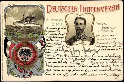 Präge Deutscher Flottenverein, Prinz Heinrich, Schiff