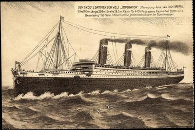 Künstler Dampfschiff Imperator Der Hapag Aus See