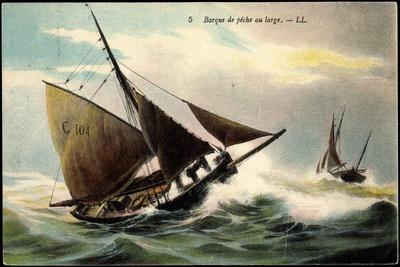 Barque De Pêche Au Large, Segelboote, C 104, Sturm