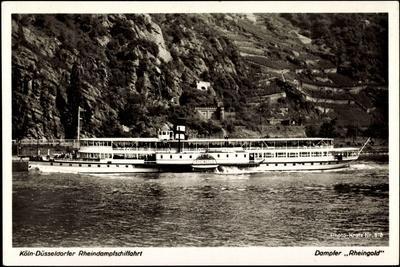 Dampfer Rheingold, FlUSS Rhein, Binnenschifffahrt