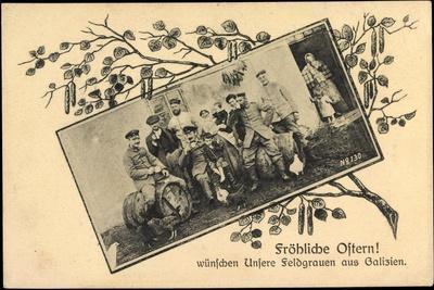 Frohe Ostern, Feldgraue Aus Galizien, 48 Res Division
