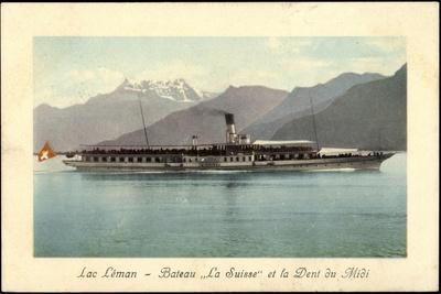 Lac Leman, Bateaux La Suisse, Dent Du Midi, Dampfer