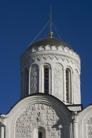 Russia, Vladimir, Dome of Cathedral of Saint Demetrius