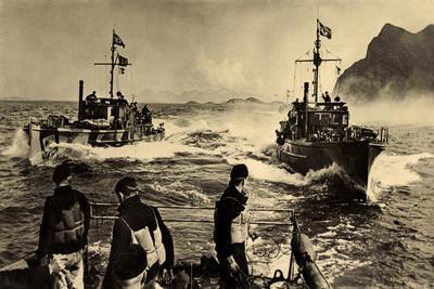 Wehrmacht, Kriegsmarine,Räumboote Im Einsatz,Schiffe