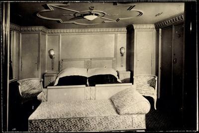 Foto Hapag, Dampfer Albert Ballin, Luxuskabine